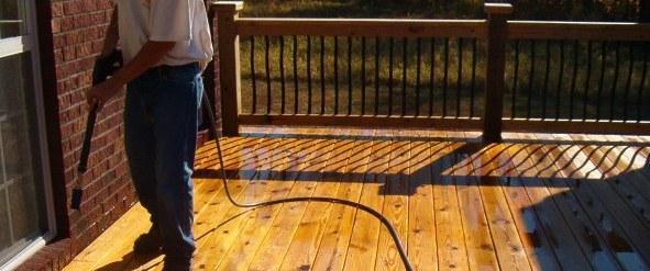 Pressure Washing Deck Staining
