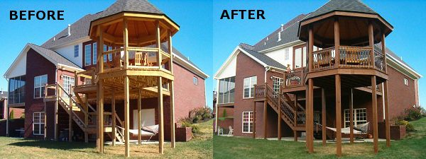 Deck Staining Louisville KY